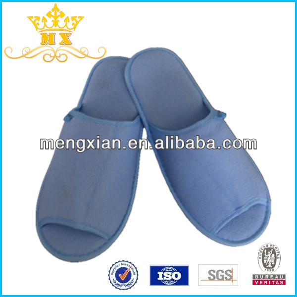 comfortable blue hotel anti static hotel guest room slipper