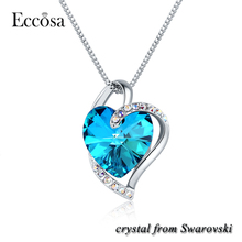 Eccosa Heart Necklace Pendants For Jewelry Making For Gift Itemes Crystal From Swarovski New Arrival Product