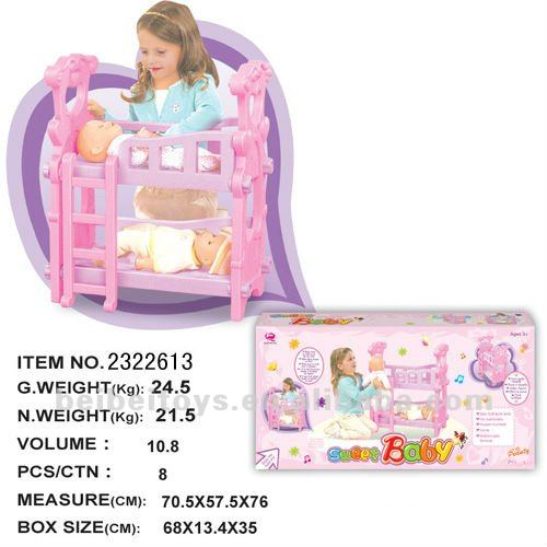 Toy Baby Bunk Bed, Baby Toys, Pretend Play Toys