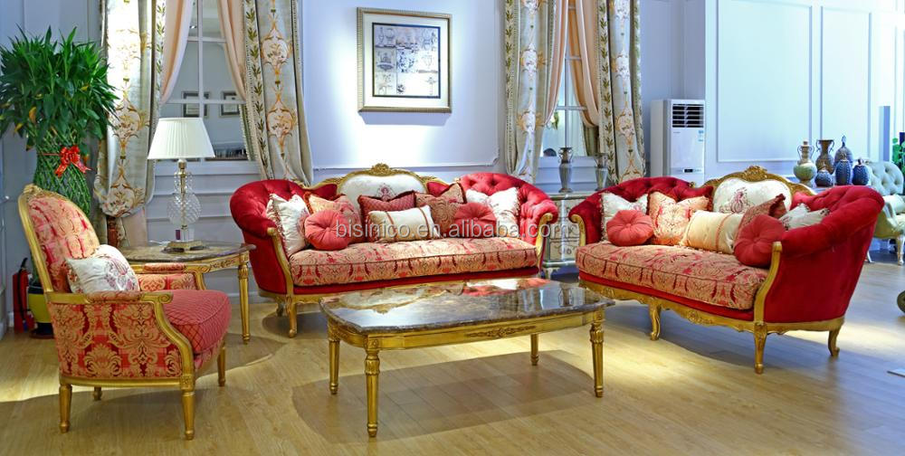French Noble Wooden Carving Curve Living Room Sofa Set/ Vintage Elegant Pink Velvet Sofa Set/ High Quality Living Room Furniture