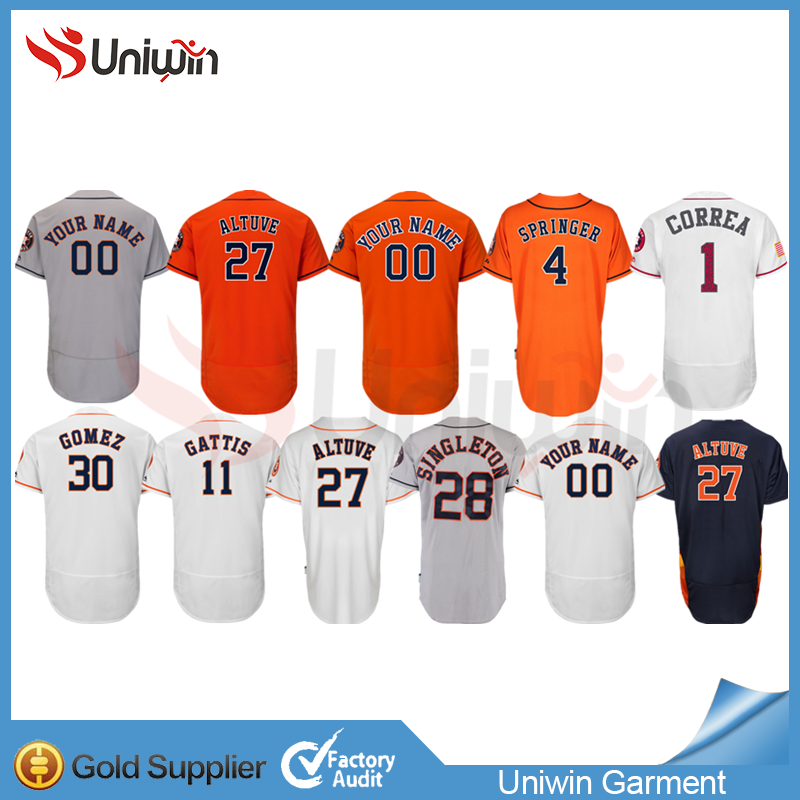 Houston Astros jersey latest design polyester shirt baseball top quality