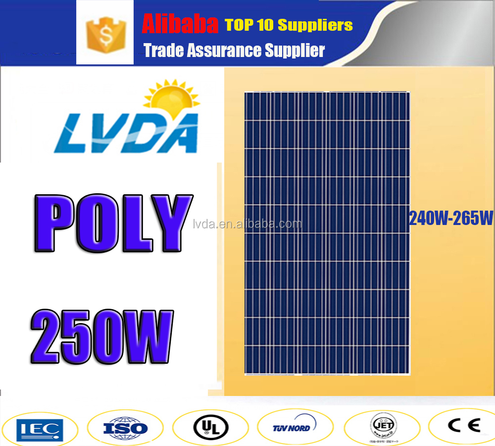 home use profession design complete kit off grid poly solar panel power system 250w 60cells poly solar panel for Yemen market
