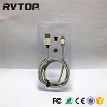 Micro USB 2.4A Anti Winding Nylon Braided LED Rvtop X-Cable Mini 2 Magnetic Data Cable