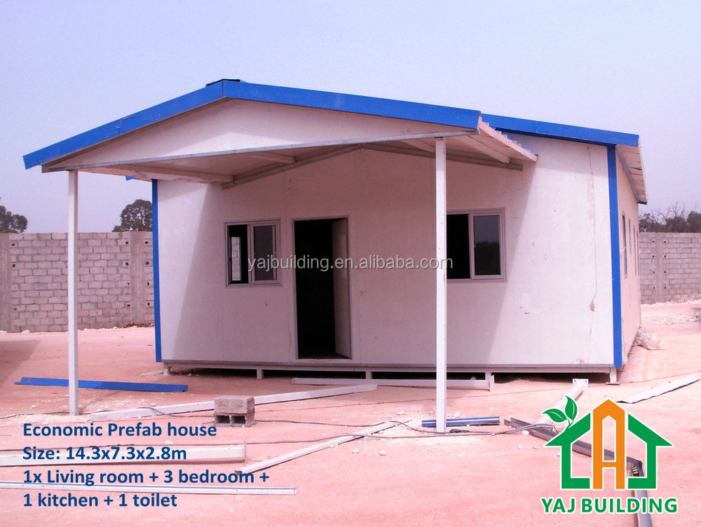 China supplier light steel frame prefab house design