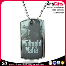 Artigifts company professional Metal Chain Dog Tags Filled In Photos