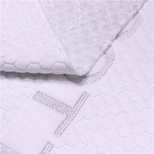 Rich And Magnificent Silver Cotton Knitted Polyester 75D/72F Interlock Bombay Knit Mattress Fabric