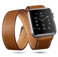 high qaulity brown apple watch band leather for iwatch