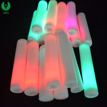 Custom Led Foam Glow Sticks, Foam Led Light Up Sticks With Logo
