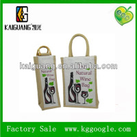 high qulaity jute bags single bottle jute wine bag jute fabric wine bag