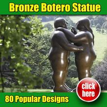 Modern garden decoration brass botero reproduction oil painting