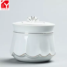 China Pure white Cremation Urns for Pet Ashes