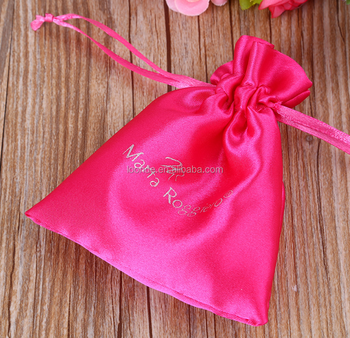 Elegant and refined satin bag pouch for gift packaging