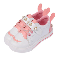 size 26-30 fashion cute design elegant footwear with bunny ears and pearl for kids girl