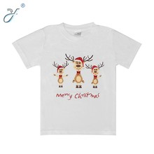 Wholesale 100% Cotton Children's Christmas T shirts Deer Printed Tee