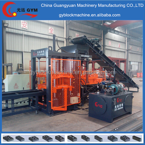latest technology full automatic engine motor concrete laying block making machine