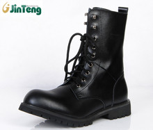 Genuine Leather Men Military Boots Men's Motorcycle Riding Hunting Casual Walking Shoes
