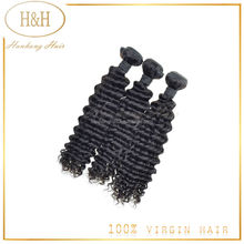 Ali HanHong hair weaving brazilian human hair deep wave ,virgin brazilian hair deep weave bundles