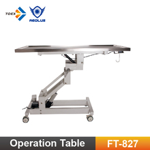 FT-827 Veterinary Electric Rotating Operation Table Surgical Instrument animal surgical table