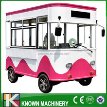 Multi-functional snack/food car four wheel mobile food carts for sale electric car factory direct sales with free shipping