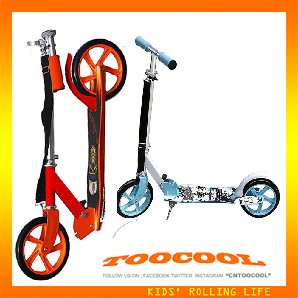TK02 aluminum adult kick scooter with foot brake