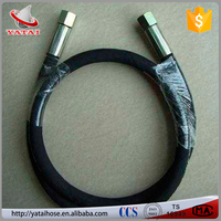 Black NBR Steel Wire Braided Rubber Oil Hydraulic Hoses Suppliers
