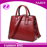 Wine red PU Bag NEW Design Long Shoulder Strap Lady Purses handbags