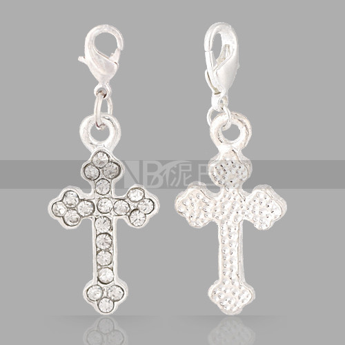 2015 Wholesale Christian Jewelry Crystal Rhinestone Cross <strong>Charm</strong>
