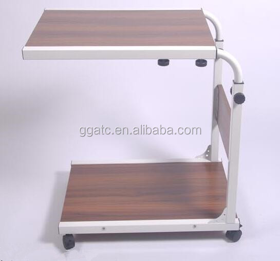 The newest hospital medical overbed table with high quality
