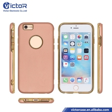 Hot selling products electroplating TPU + rubberized PC 2 in 1 hybrid phone case for iPhone 6s