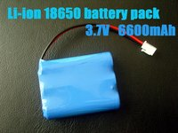 11.1v lithium ion rechargeable battery18650 6600mAh