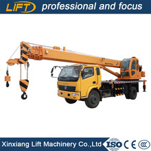 Euro 3 small 8ton dongfeng truck crane with low price