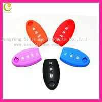 Best factory cheap price silicone rubber auto remote key shell for Nissan modified flip remote key shell 4 buttons auto key