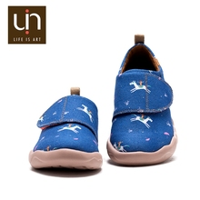 UIN Pony and Rider children boys summer painted campus canvas shoes