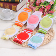 high quality candy color cotton elastic soft baby knee protect sleeve pads for children