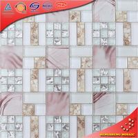 Crystal mosaic tealight holder tile mosaic patterns decorative wallpaper (KS366)