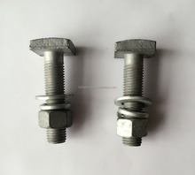 OEM fabrication hot sale DIN261 HDG M6 to M20 square head t bolt
