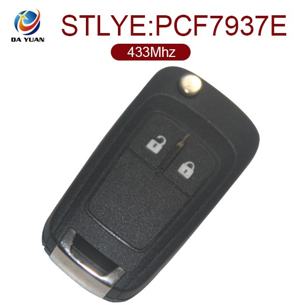 AK028001 Car key Brass blade for Opel Flip control key best price PCF7937E blank auto key
