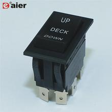 12VDC 30A DPDT 6 Pinos ON-OFF-ON Momentary Automotive Switch 3 Way