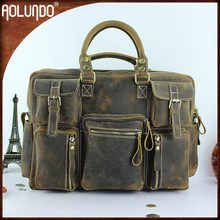 Best Quality Vintage 15inch Italian Leather Laptop Tote Bag