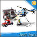 452 PCS DIY educational police building block toy set