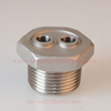 stainless steel Chrome plated hexagon plug NPT Hydraulic Pipe Fitting with 2 hole for heater