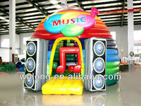 Belly jump air bouncer inflatable trampoline/ inflatable Music Show Bounce