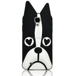 Black dog cartoon custom Silicone Phone Bag,Animal Mobile Case,Phone Cover