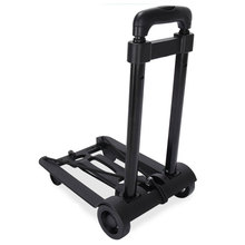 Plastic foldable beach trolley handle for push flatform truck four wheeled airport luggage folding wagon plat my dolly cart