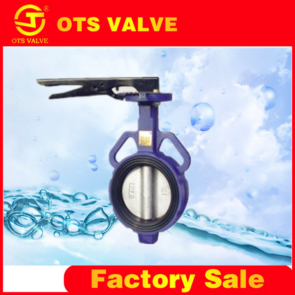 BV-LY-0125 light weight soft back rubber seat sealed without pin butterfly valve with manual operator