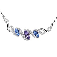high quality hot selling pendants for best friends swarovski rhodium necklace