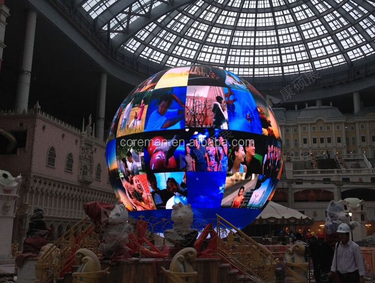 COREMAN 3D full color led ball <strong>display</strong> p4 p5 p6 indoor p10 outdoor Globe LED <strong>display</strong>,Ball Outdoor LED sphere <strong>display</strong> screen