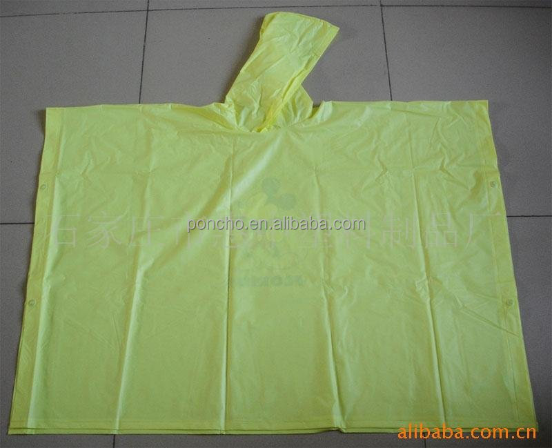 hot sale printed PVC rainponcho in different colors