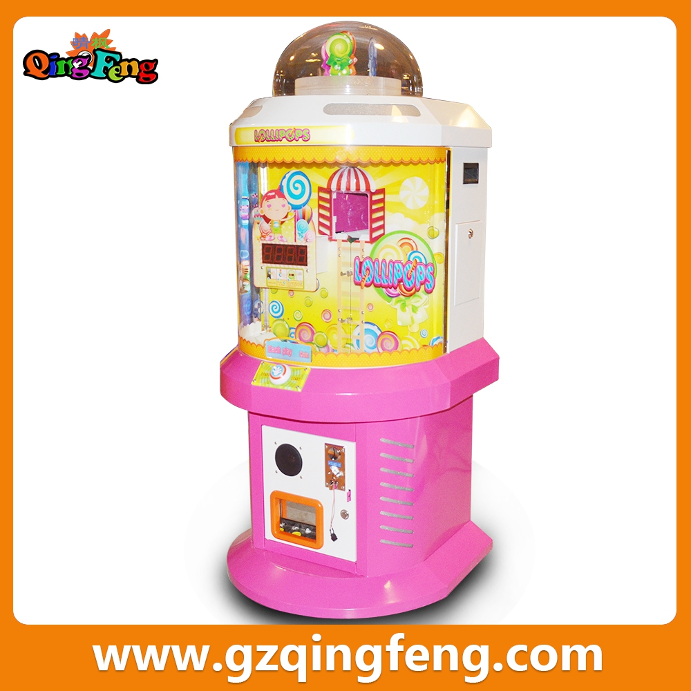Qingfeng 2015 year end promotion lollipop vending machine gift vending machine
