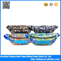 Fashion canvas printed colorful latest sport waist bag chest bag for girls and boys